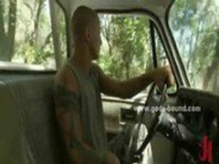 Pervert gay driver catches hitchhiker