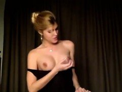 Hot blondy college girl ts showing herself on webcam