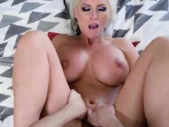 Blonde milf with big boobs Alena Croft gets pounded