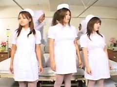 Hot asian nurses in group sex scene