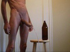 Penis Plug and Pump and Bottle Ass Fuck and Bareback Cum