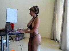 Webcam girl with big boobs show