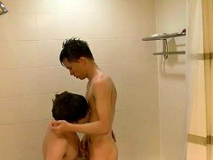 Amateur gay glory hole videos first time They scrub down