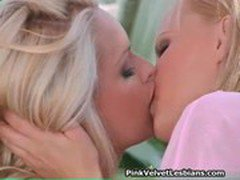 Two super hot small tits lesbian blond