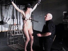 Electro bdsm and feet punishment of slave Elise