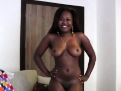 Big ass African slut at casting call riding some big cock