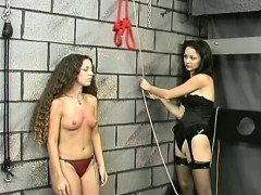 Naked babes roughly playing in slavery xxx clip