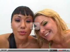 Avena Lee and Cassie Courtland Double Blow