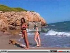 3 French Lesbians Have Fun On The Beach M27