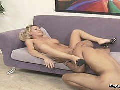 Monster Cock Fuck Blond Teen Hard and Cum in Face