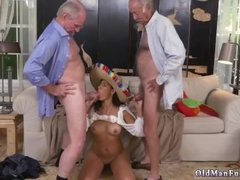 Old man fuck big tit blonde and young
