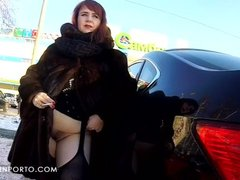 Katrin Porto - Flashing In Car And Shopping Nude