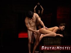Hand domination riding very rough gangbang Two youthfull