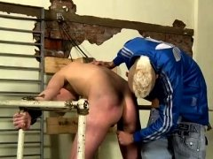 Gay porn brothers comparing cocks and double anal men