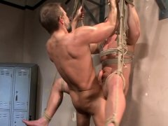 Wrestling jock anally banged after battle