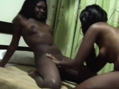 Ebony lesbians know how to have lots of fun. They do it by