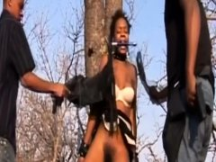 SBDSM action with African sex slave