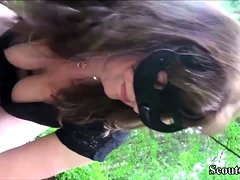 German Grandma seduce Young Boy to Outdoor in Privat Tape