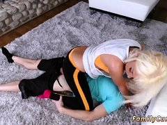 crony's daughter visits dad homemade xxx Stretching Your