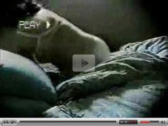 milf masturbate on bed in the night. Hidden cam