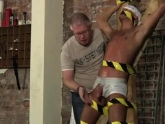 Soft bedroom bondage gay xxx Slave Boy Made To Squirt