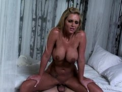 Blonde gets bent over and plowed hard