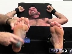 Teen muscle male feet gay Billy, clothed here in business