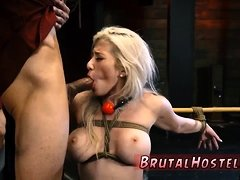 Slave licks shoes first time Big-breasted ash-blonde