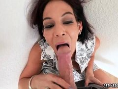 Teen girl old man and skinny loves to ride Ryder Skye in