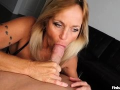 Milf Finds Young Guy In Her Room Jacking Off His Cock