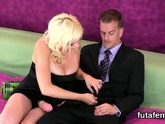 Chicks ream lovers asshole with huge strap-ons and blast spu