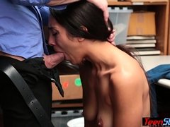 Teen latina Black Friday shopper fucked by a LP officer