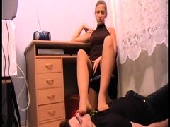 Melady order slaves to smell her stinky feet