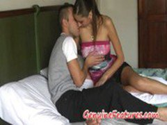 Real czech amateur couple in hot sex action