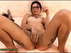 Watch Tattoo Teen Fingering Her Pussy And Squirt