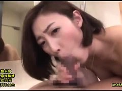 Busty japanese babe enjoys sex toys and blowjob uncensored