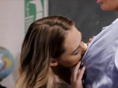 This hot lesbian MILF is just too hot for a teacher