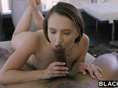 BLACKED Beautiful latina fucks her brother's best friend BBC