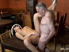 Young brunette licks and fucks old man xxx Can you trust