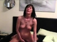 Amateur milf wife giving sensual blowjob
