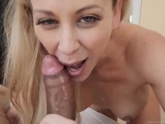 Mom caught blowjob and milf creamy wet fuck Cherie