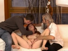 Teen gets tied up and fucked by step daddy old german