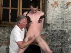 Bondage male haircut gay Sean McKenzie is strapped up and