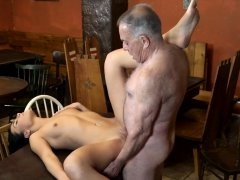 DADDY4K. Old and young lovers have fun when athletic boy...