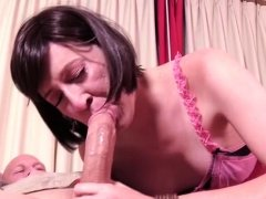 Hot shemale hardcore anal and swallow