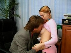 Amazing sex scenes in movie scene with a blond hottie