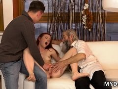 Old man bdsm first time his father came closer to her and