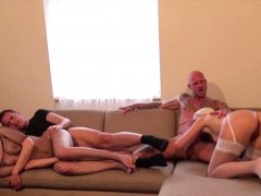 GERMAN FOURSOME WITH CREAMPIE EATING after Party with Teens