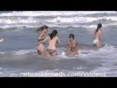 Teens Nude in Public on Beach