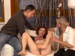 Mom and guy xxx Unexpected experience with an older